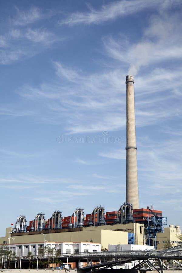 Calore E Centrale Elettrica Immagine Stock