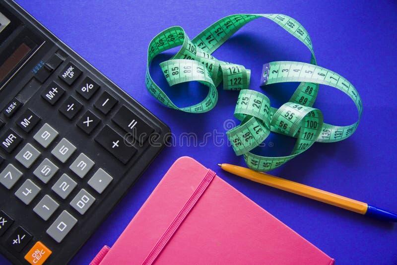 Calorias Da Contagem Com Calculadora Imagem de Stock..