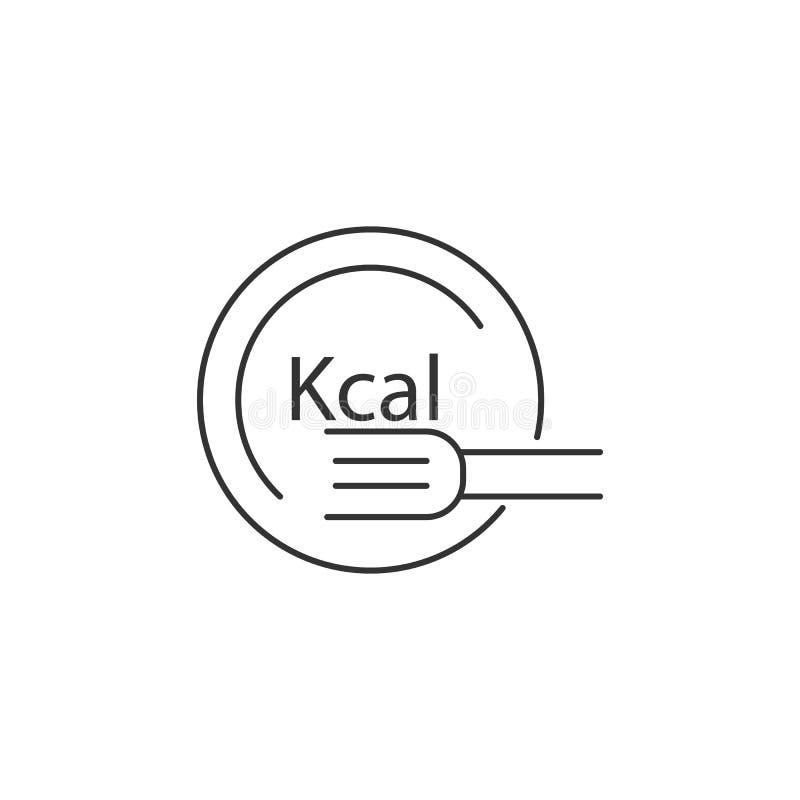 Calorias do ícone Ilustração simples do elemento Do símbolo calorias do molde do projeto Pode ser usado para a Web e o móbil ilustração do vetor