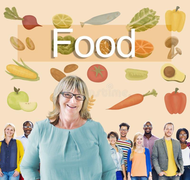 Calorias do alimento que jantam beber comendo o conceito da nutrição fotografia de stock