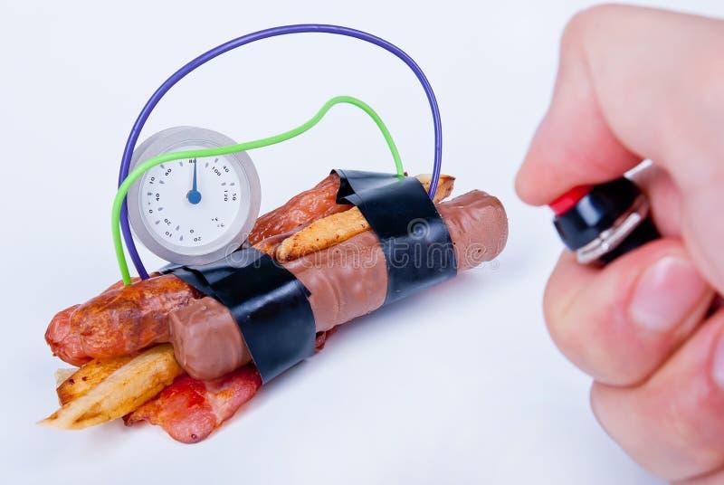 Calorie Bomb stock image