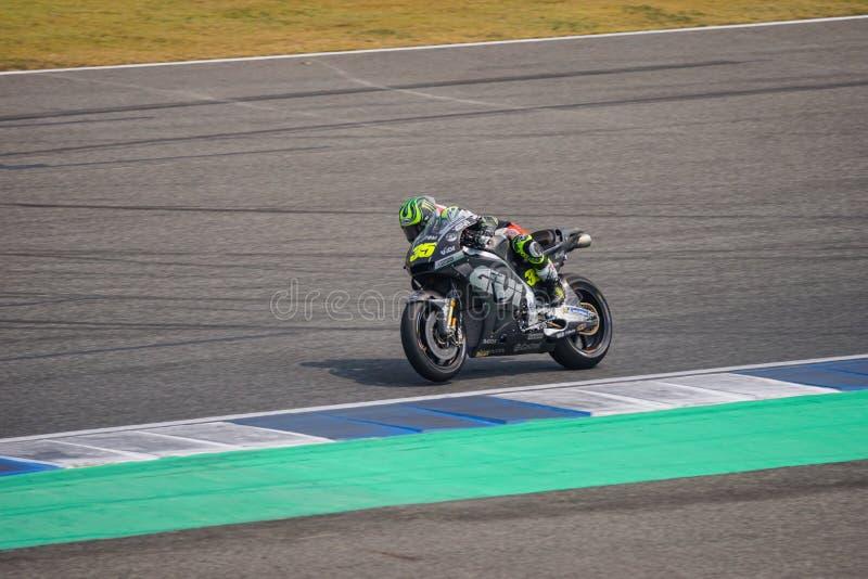 Calorie CRUTCHLOW chez Burirum, Thaïlande - février, 18,2018 : Bu de MotoGP image stock
