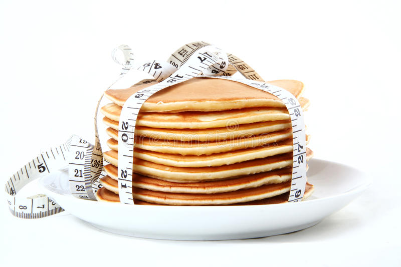 Download Calorie pancakes stock photo. Image of tape, tasty, white - 22536618