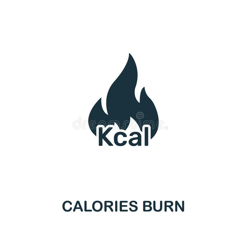 Calories Burn icon. Premium style design from fitness icon collection. Pixel perfect Calories Burn icon for web design royalty free illustration