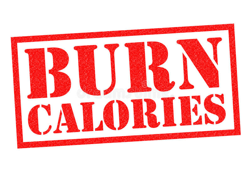 CALORIES DE BRÛLURE illustration libre de droits