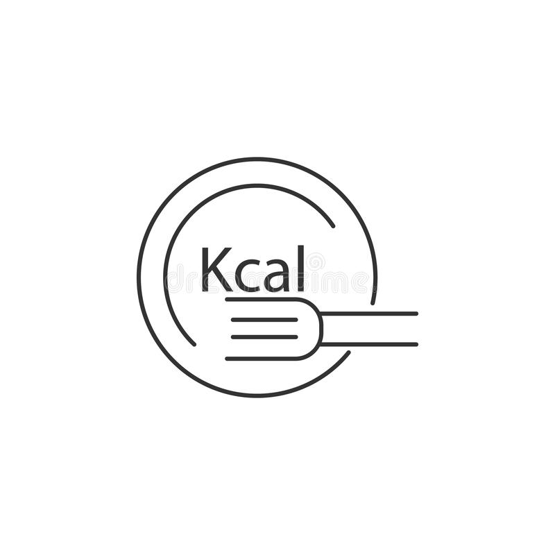 Calories icon. Simple element illustration. Calories symbol design template. Can be used for web and mobile vector illustration