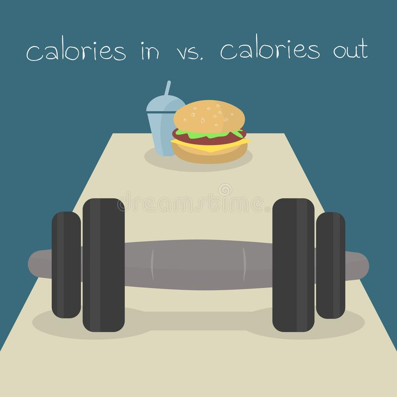 Calories in calories out royalty free stock photos