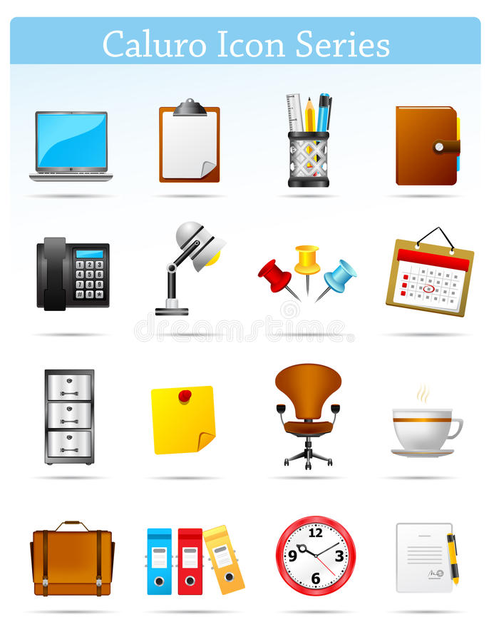 Caloru Icon series - Office and Businnes royalty free illustration