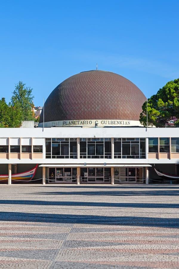 Calouste Gulbenkian planetarium i Belem royaltyfri fotografi