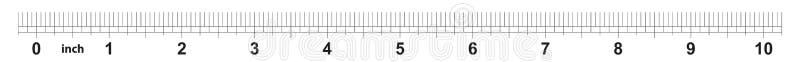 10 calowa władca Ocechowanie dokładność są jeden sixteenth cal Cesarska siatka ilustracji