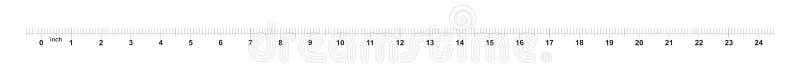 24 calowej ta?my w?adcy z (0) miary 1 calowi ocechowania Metryczna siatka ilustracja wektor
