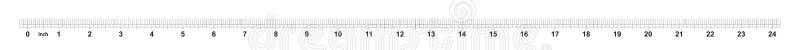 24 calowej władcy Ocechowanie dokładność są jeden sixteenth cal Cesarska siatka ilustracji