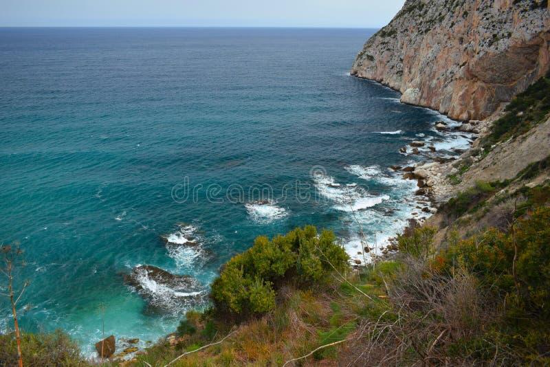 Calpe, Аликанте, среднеземноморской, море, славные взгляды, синь, небо, cloude, рай, стоковая фотография rf