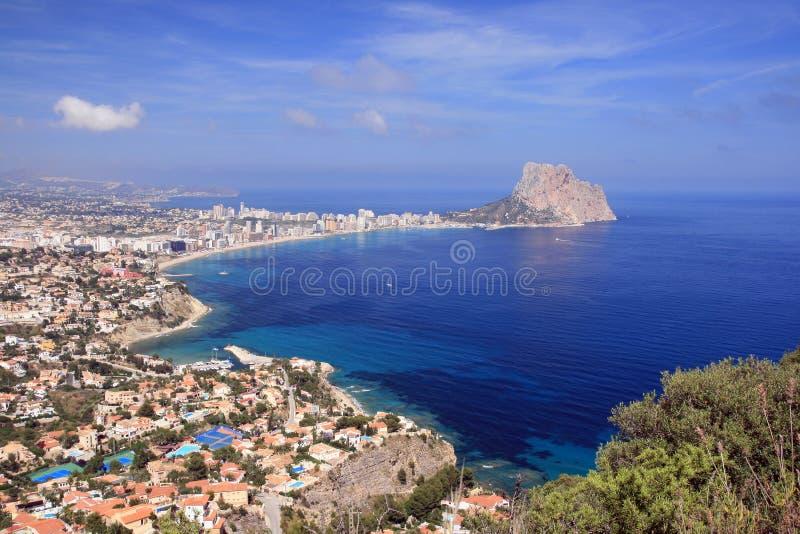 Calpe bay. Peñon de Ifach and Calpe Bay - Alicante royalty free stock photography
