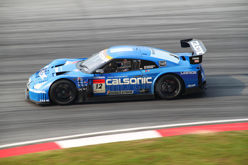 Calsonic Nissan 12, SuperGT 2010 royalty-vrije stock afbeelding
