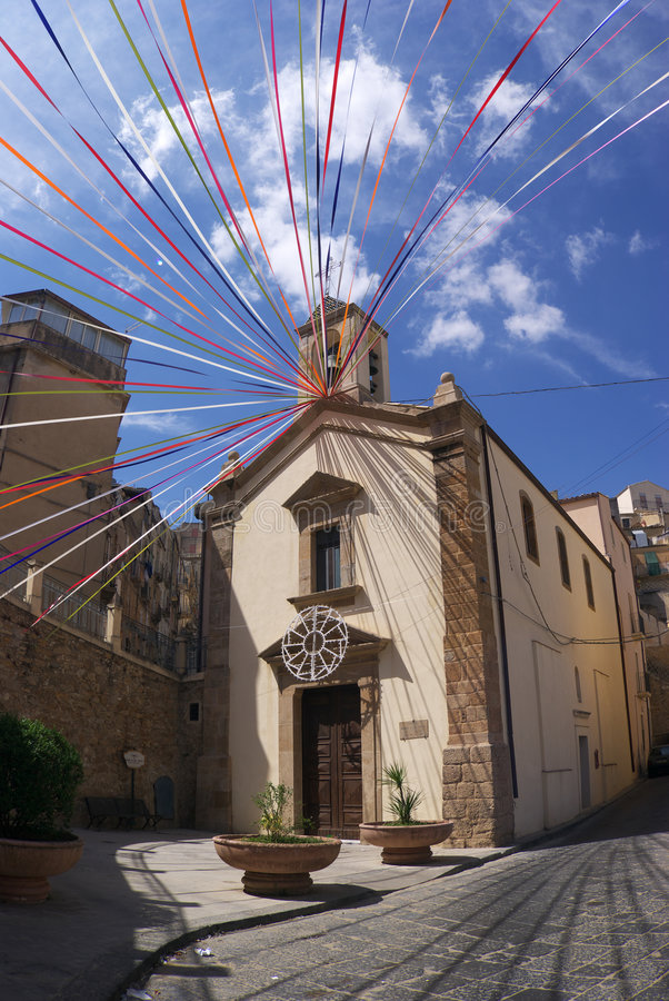 Caltagirone church royalty free stock photography
