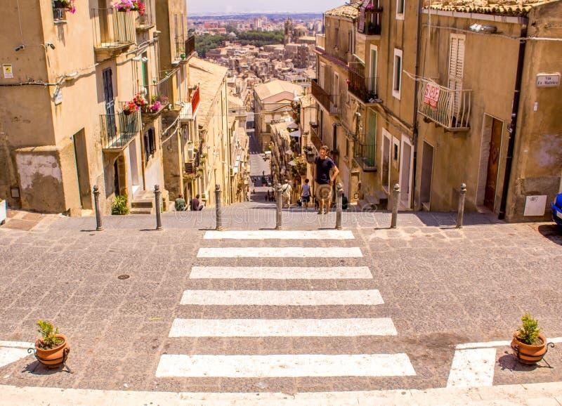 Caltagirone - Sicília fotografia de stock
