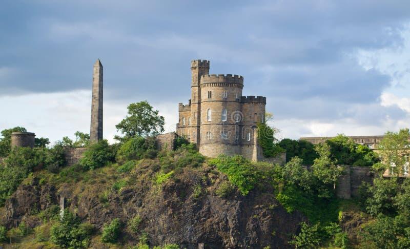 Calton Cemetery And Obelisk Edinburgh Stock Photos