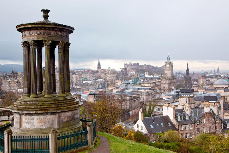Calton Hügel Edinburgh Schottland lizenzfreies stockbild