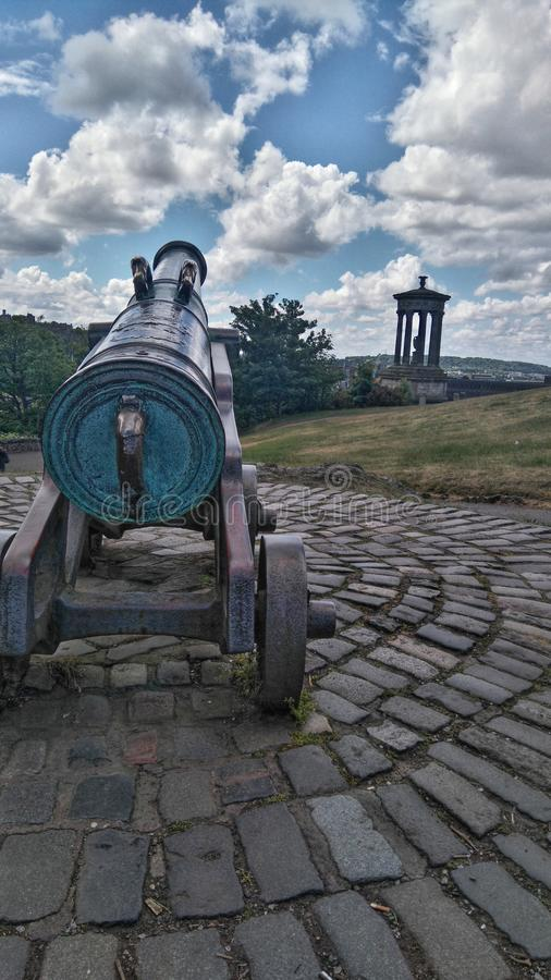 Caltonheuvel in Edinburgh stock afbeelding