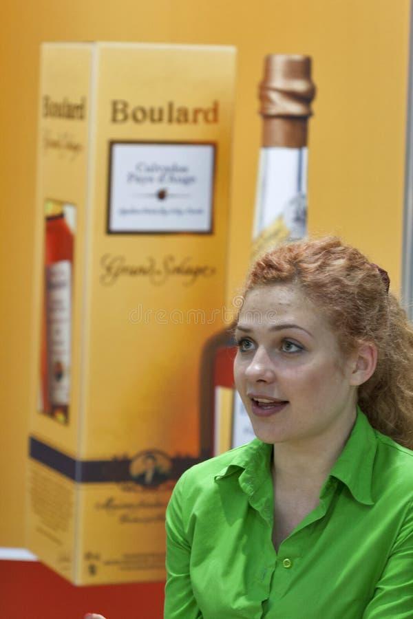 Calvados Boulard presenter during the festival stock photography