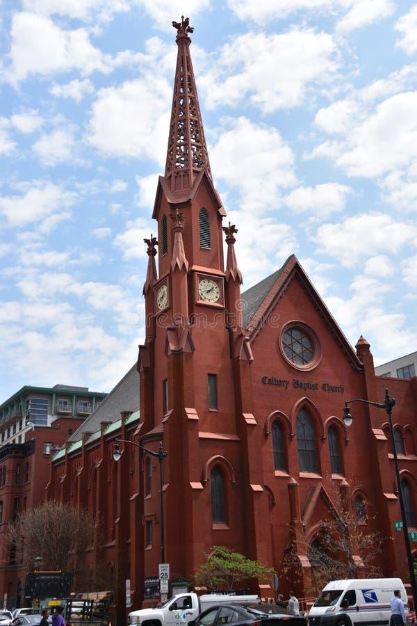 Calvaire Baptist Church dans le Washington DC photos stock
