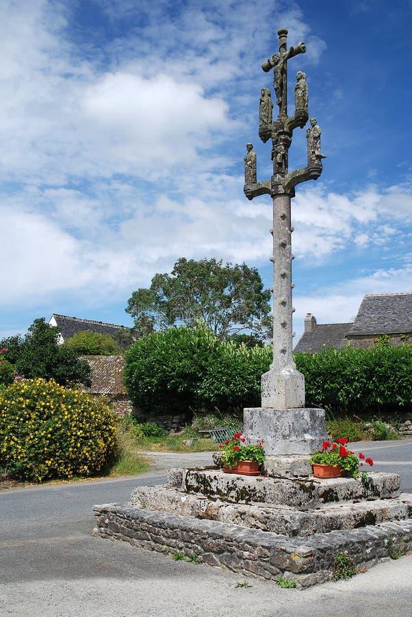 Calvaire en pierre dans Brittany images stock