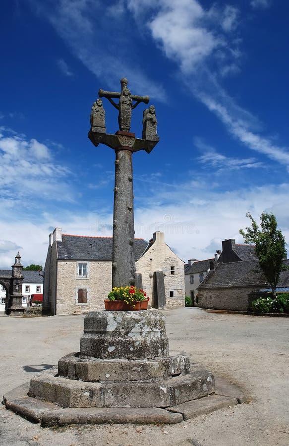 Calvaire en pierre dans Brittany image stock