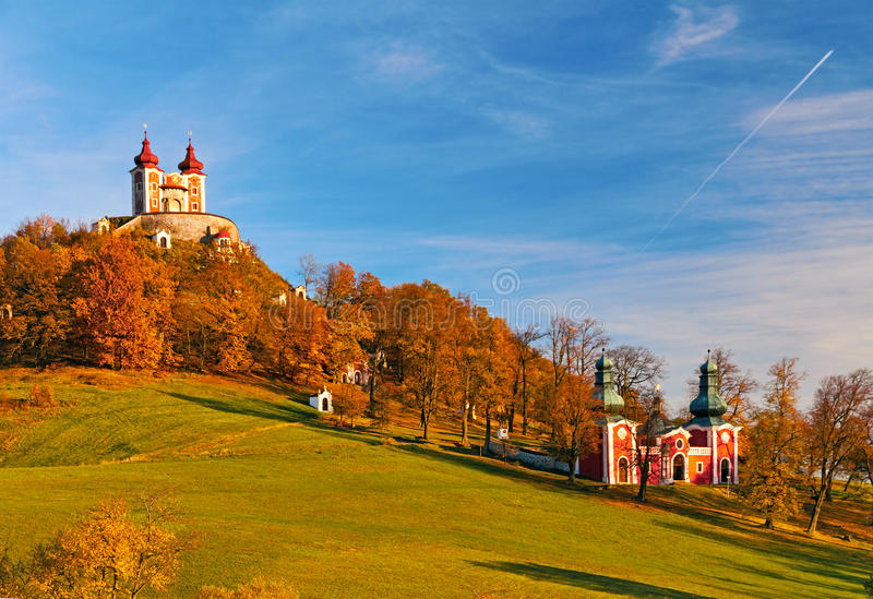 Calvary Banska Stiavnica. Is the most important Baroque calvary in Slovakia stock photos