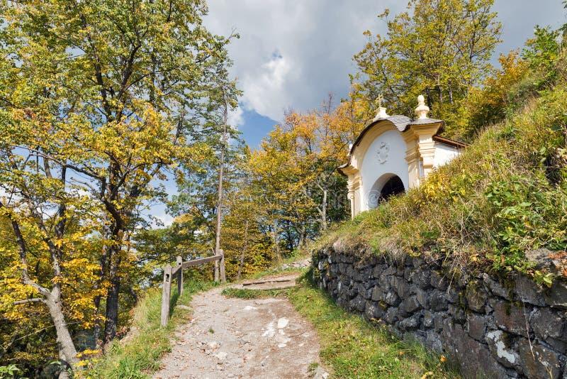 Calvary in Banska Stiavnica, Slovakia. royalty free stock photography