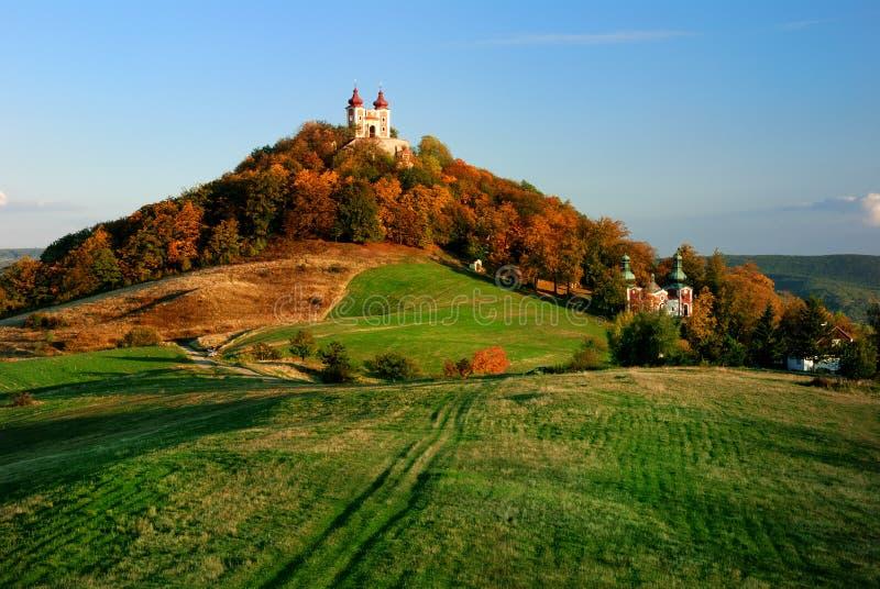 Calvary in Banska Stiavnica, Slovakia Unesco royalty free stock image