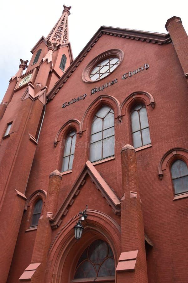 Calvary Baptist Church i Washington DC royaltyfria foton