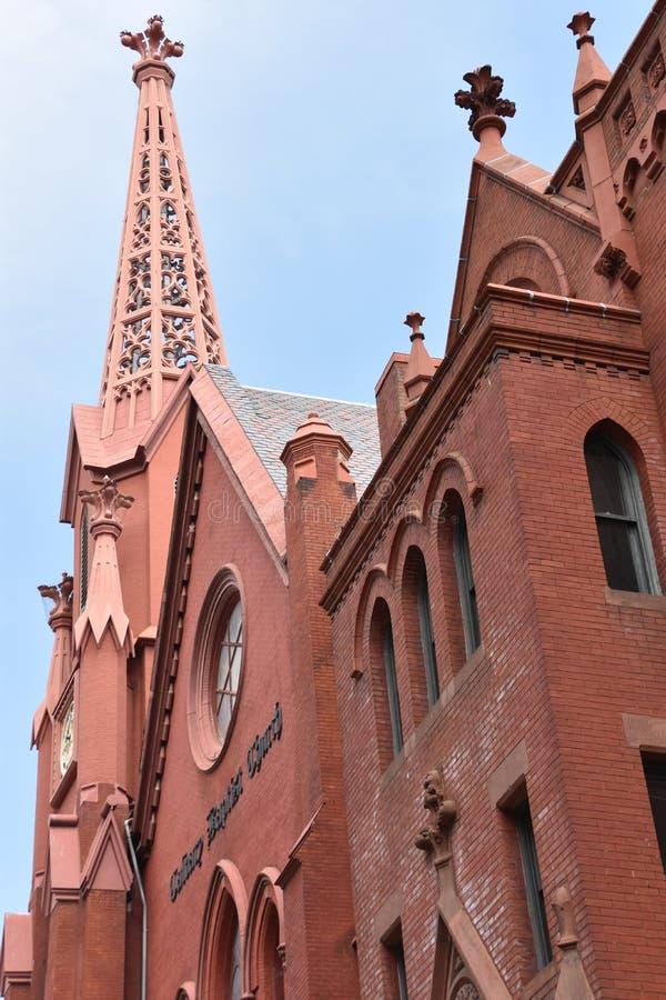 Calvary Baptist Church i Washington DC royaltyfria bilder
