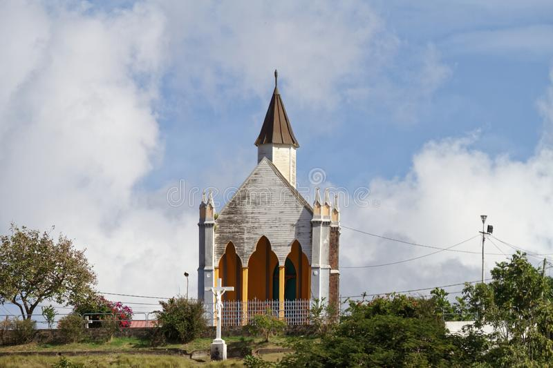Calvary Chapel - Fort de France - Martinique royalty free stock image