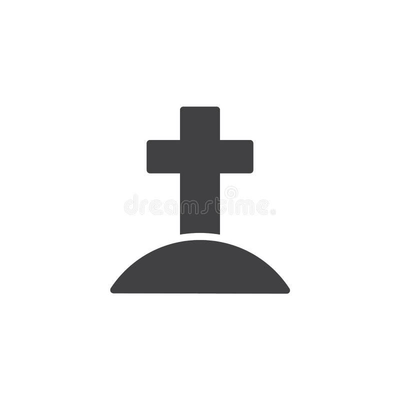 Calvary con el icono cruzado del vector stock de ilustración