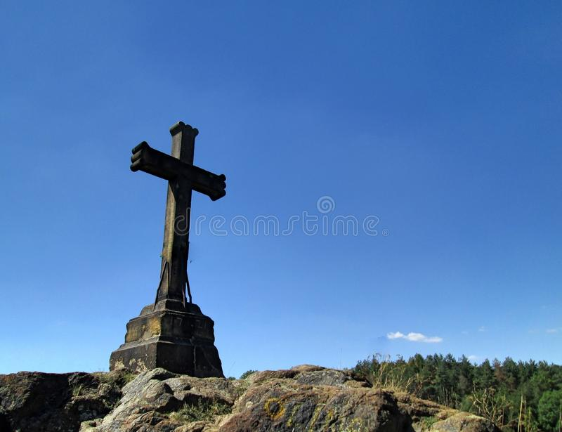 Calvary Cross in Motol stock photography