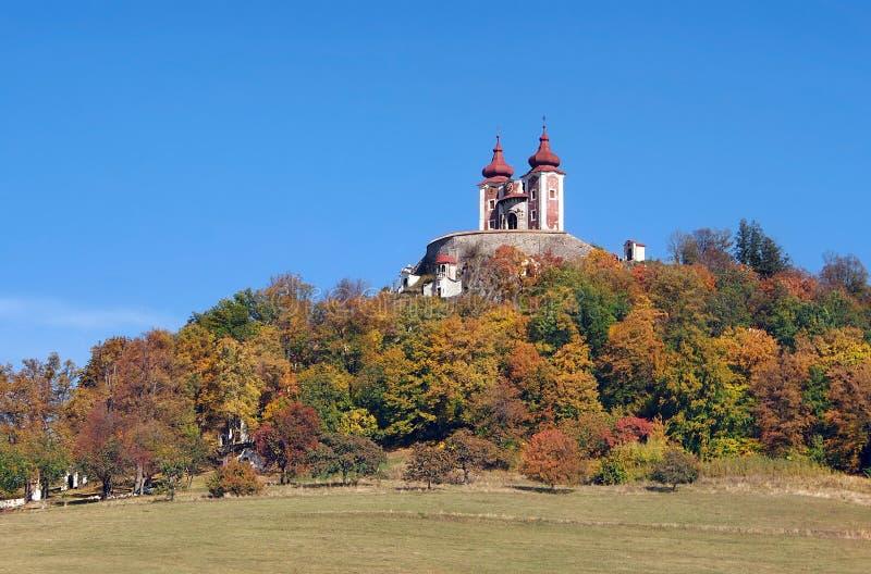 Calvary en el vrch de Ostry, Banska Stiavnica fotografía de archivo