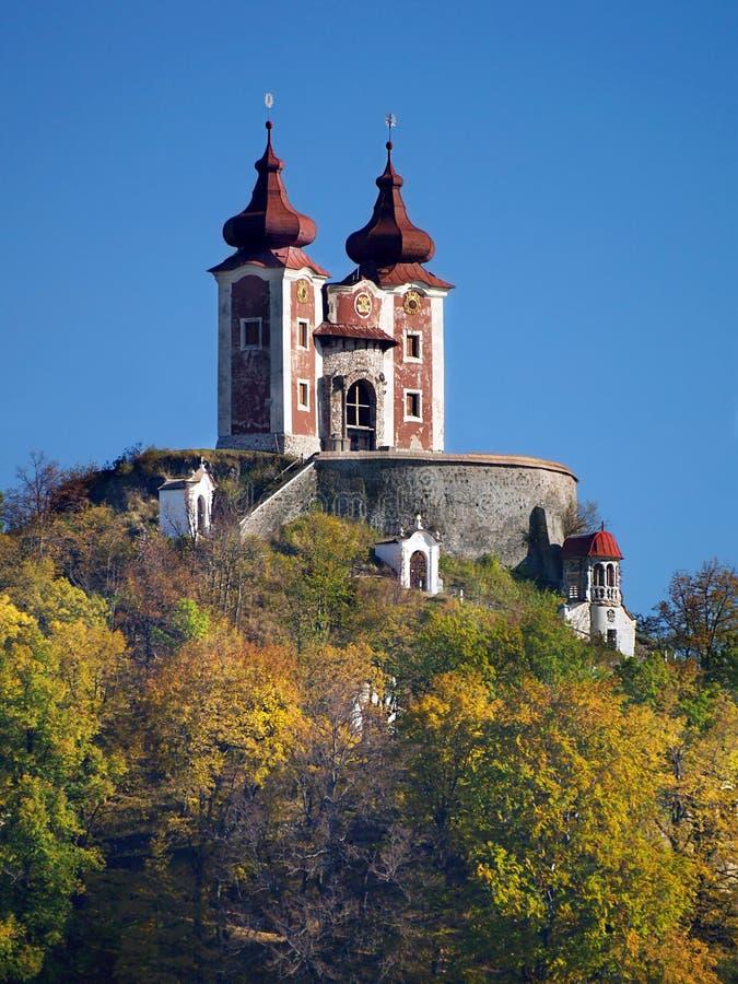 Calvary en la colina del vrch de Ostry, Eslovaquia fotos de archivo libres de regalías