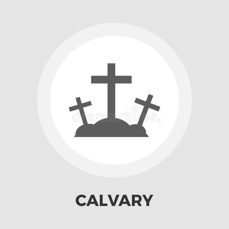 Calvary flat icon. Calvary icon vector. Flat icon isolated on the white background. Editable EPS file. Vector illustration royalty free illustration