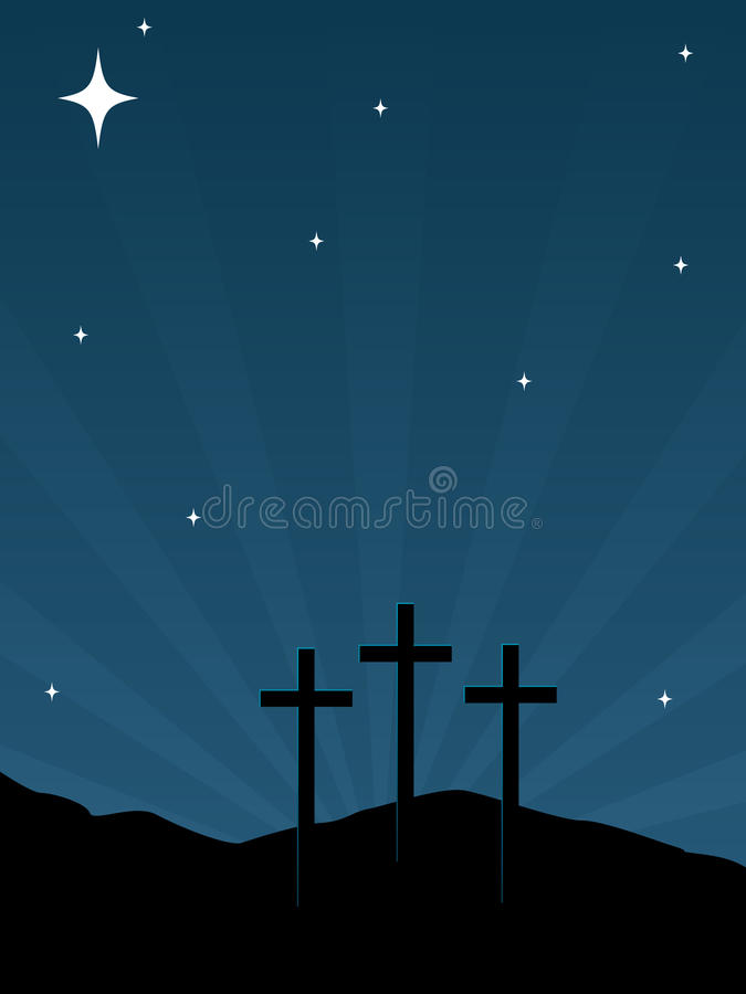 Download Calvary Hill EPS stock vector. Image of rise, christ - 15518434