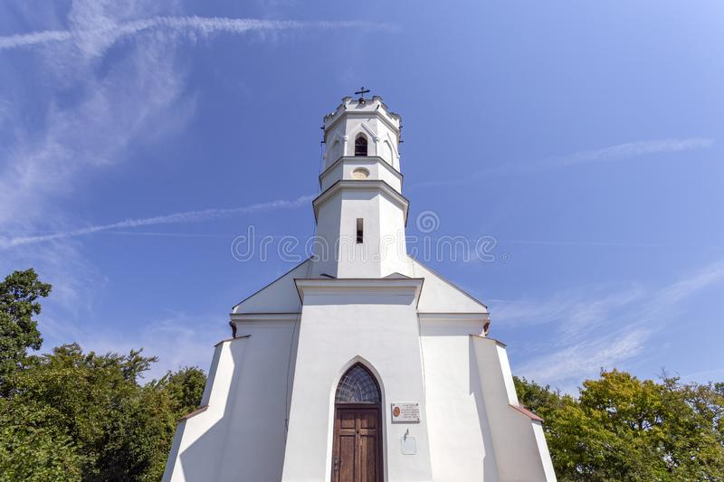 Calvary hill in Magyarpolany, Hungary.  stock images