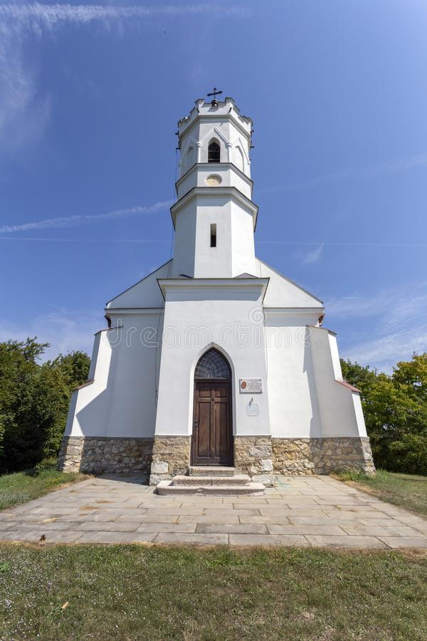 Calvary hill in Magyarpolany, Hungary.  royalty free stock images