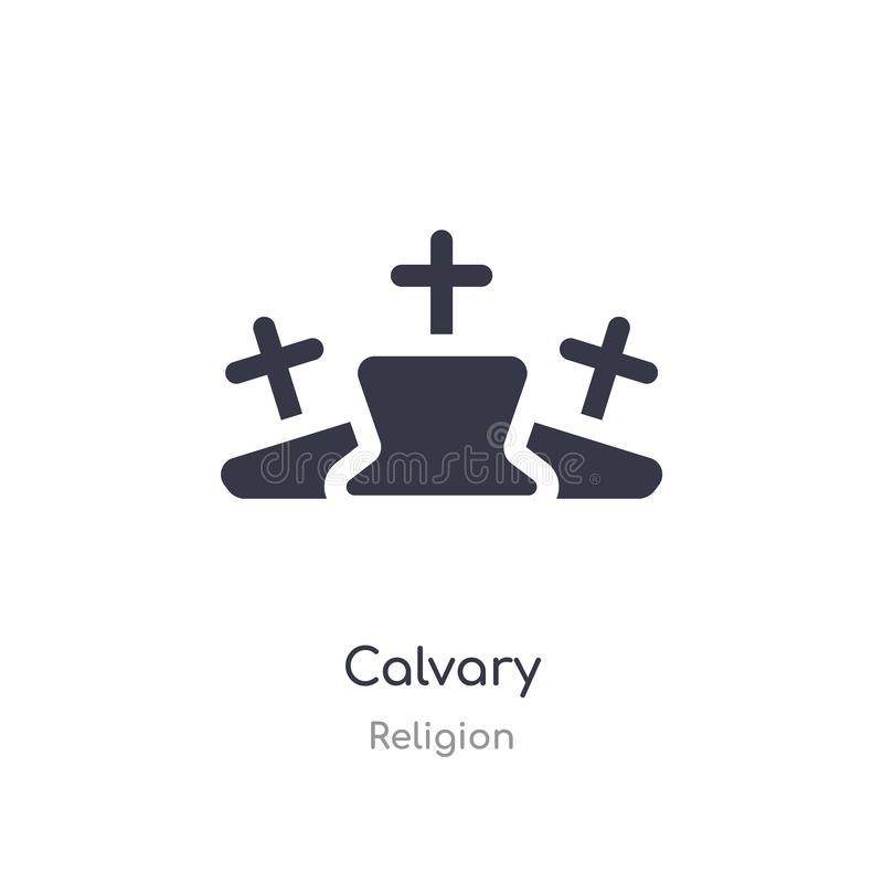 Calvary icon. isolated calvary icon vector illustration from religion collection. editable sing symbol can be use for web site and. Mobile app stock illustration