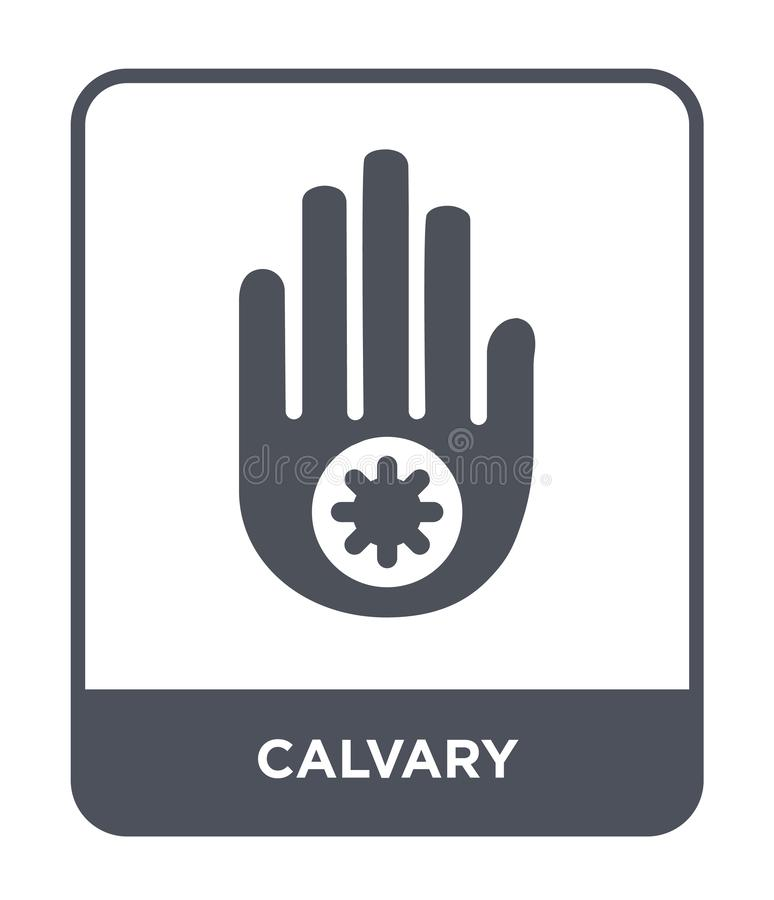 Calvary icon in trendy design style. calvary icon isolated on white background. calvary vector icon simple and modern flat symbol. For web site, mobile, logo vector illustration