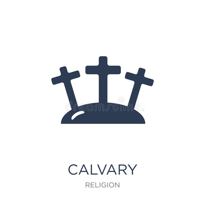 Calvary icon. Trendy flat vector Calvary icon on white background from Religion collection. Vector illustration can be use for web and mobile, eps10 royalty free illustration
