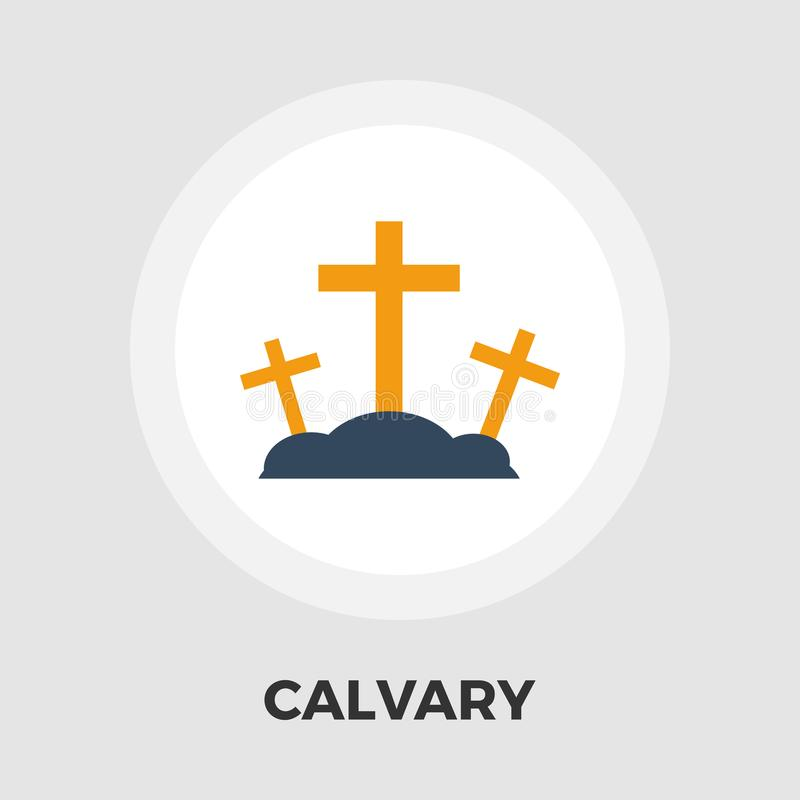 Calvary flat icon. Calvary icon vector. Flat icon isolated on the white background. Editable EPS file. Vector illustration stock illustration