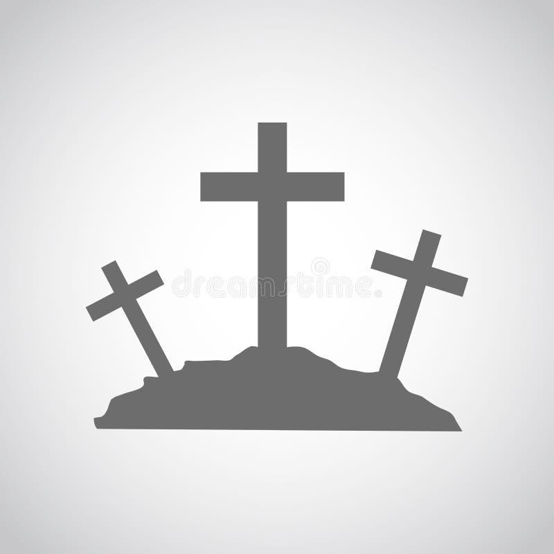 Calvary icon. Vector illustration. stock illustration