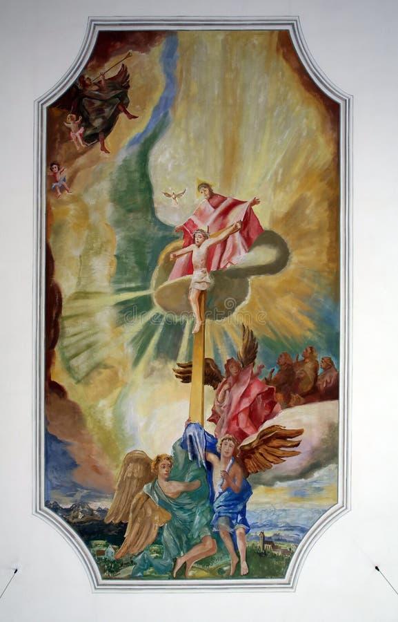 Calvary Jesus på korset arkivbilder
