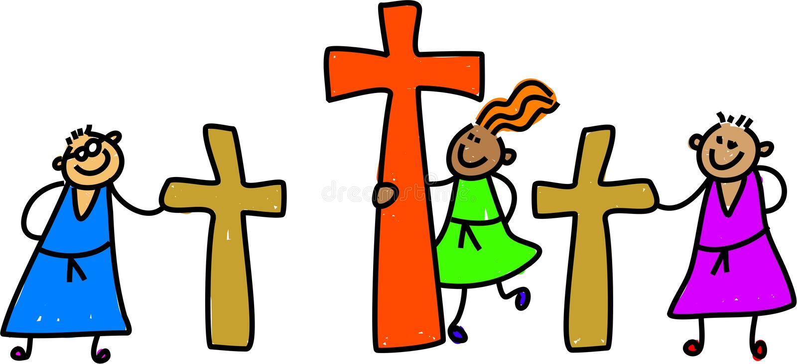 Download Calvary kids stock illustration. Image of salvation, easter - 2214409