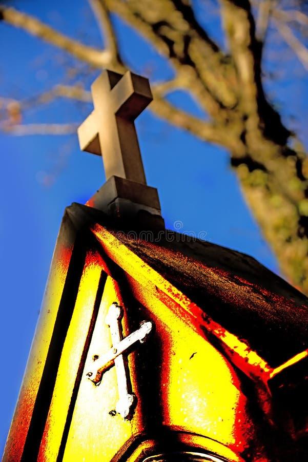 Calvary med stationen av korset arkivbilder
